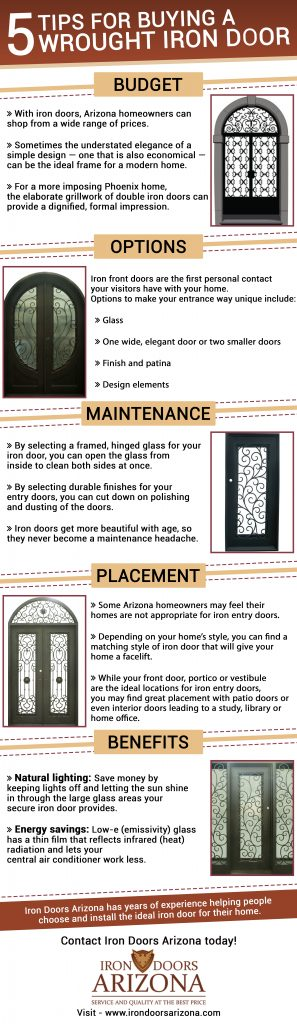 Five Tips for Buying a Wrought Iron Door