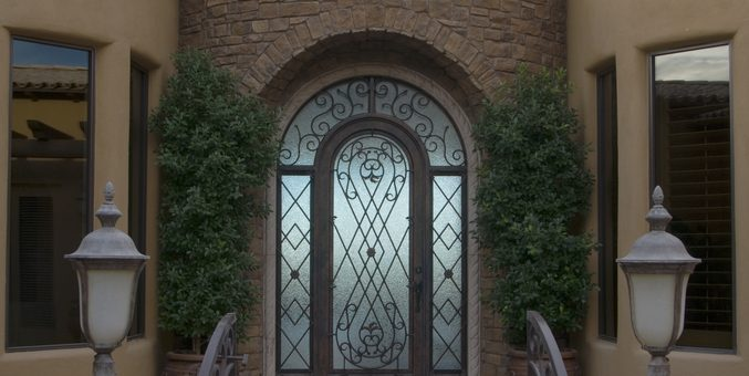 Single Wrought Iron Doors for Small Entryways